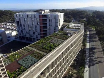 Green roof-California dorms