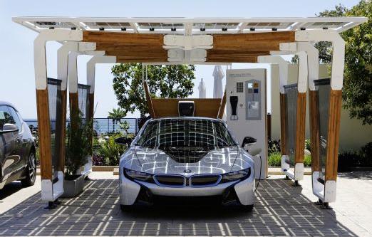 2014 BMW i8 solar carport